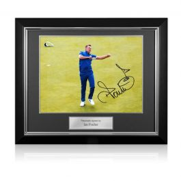Ian Poulter Signed Ryder Cup Photo: 18th Hole Celebration. Deluxe Frame