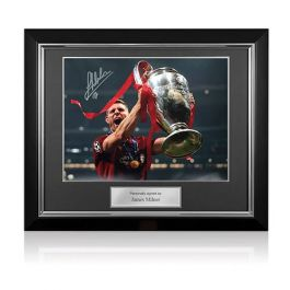 James Milner Signed Liverpool Photo: 2019 Champions League Winner Deluxe Frame