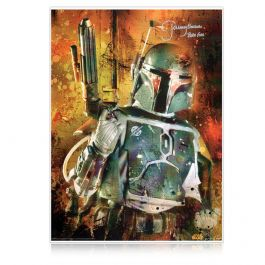 Boba Fett Signed Star Wars Poster: Bounty Hunter