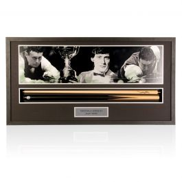 Jimmy White Signed Snooker Cue. Framed