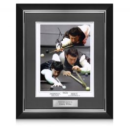 Jimmy White Signed Snooker Photo: The Whirlwind. Deluxe Frame