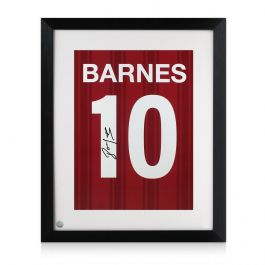 John Barnes Signed Liverpool Print: Number 10. Framed