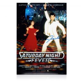 John Travolta Signed Saturday Night Fever Film Poster