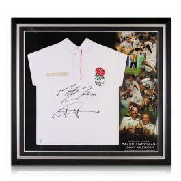 Jonny Wilkinson And Martin Johnson Signed England Rugby Shirt Premium Frame