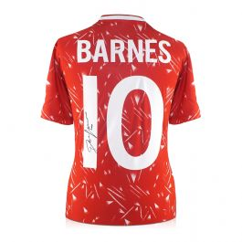 John Barnes Back Signed 1989-91 Liverpool Home Shirt