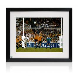 Jonny Wilkinson Signed 2003 Rugby World Cup Photo: The Drop-Kick. Framed