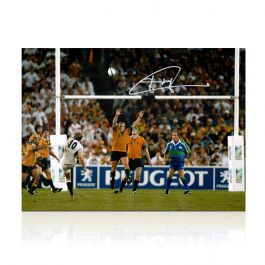 Jonny Wilkinson Signed 2003 Rugby World Cup Photo: The Drop-Kick (20 x 16)