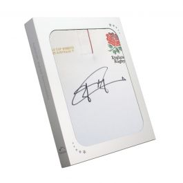Jonny Wilkinson Signed England Rugby Shirt. In Gift Box