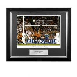 Jonny Wilkinson Signed 2003 Rugby World Cup Photo: Winning Drop-Goal. Deluxe Frame