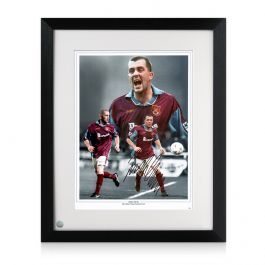 Julian Dicks Signed West Ham United Photo. Framed
