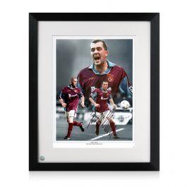 Framed Julian Dicks Signed West Ham United Montage