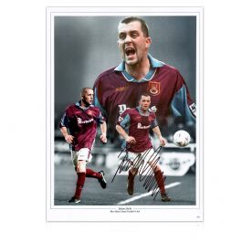 Julian Dicks Signed West Ham United Montage