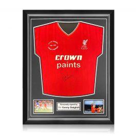 Kenny Dalglish Signed Liverpool 1986 Shirt. Superior Frame