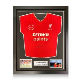 Kenny Dalglish Signed Liverpool 1986 Shirt. Standard Frame