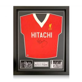 Kenny Dalglish Signed Liverpool Football Shirt 1978. Standard Frame
