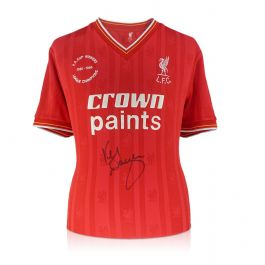 Kenny Dalglish Signed Liverpool Football Shirt 1985-86