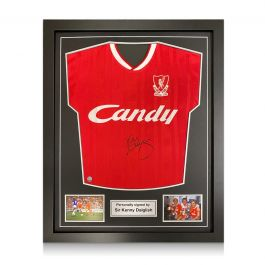 Kenny Dalglish Signed Liverpool 1989 Shirt. Standard Frame