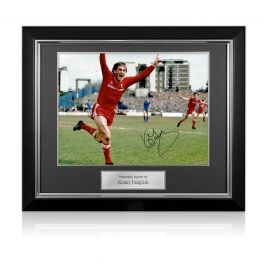 Kenny Dalglish Signed Liverpool Photo: The Winning Goal. Deluxe Frame