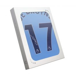 Kevin De Bruyne Signed Manchester City 2018-19 Shirt. Gift Box