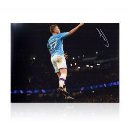 Kevin De Bruyne Signed Manchester City Photo