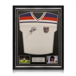 Kevin Keegan Signed 1982 England Shirt. Superior Frame