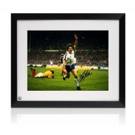 Kevin Keegan Signed England Football Photo. Framed