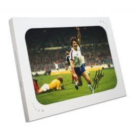 Kevin Keegan Signed England Football Photo. Gift Box