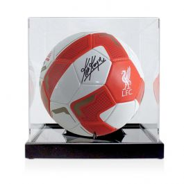 Kevin Keegan Signed Liverpool Football In Display Case