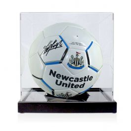 Kevin Keegan Signed Newcastle United Football In Display Case