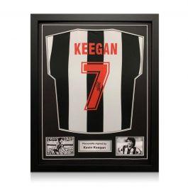 Kevin Keegan Signed Newcastle United 1984 Shirt. Standard Frame
