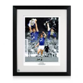 Kevin Ratcliffe Signed Everton Photo. Framed