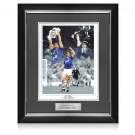 Kevin Ratcliffe Signed Everton Photo. Deluxe Frame