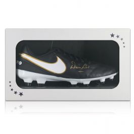 Denis Law Signed Football Boot In Gift Box