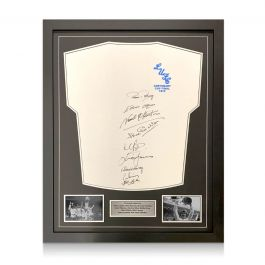 Leeds United FA Cup Shirt Signed By Ten Of The 1972 Squad. Standard Frame