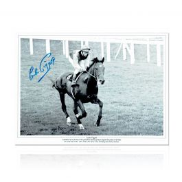 Lester Piggott Signed Horse Racing Photo: Nijinsky