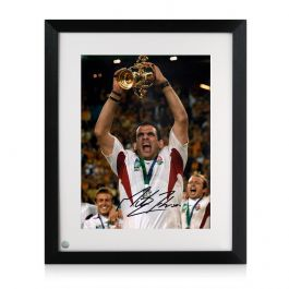 Martin Johnson Signed England Rugby Photo: World Cup Winner. Framed