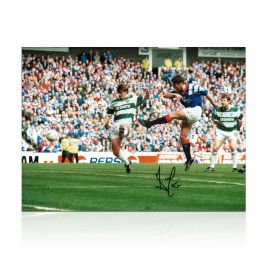 Ally McCoist Signed Rangers Photo: Old Firm Derby