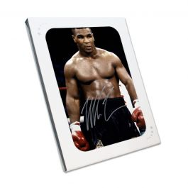 Mike Tyson Signed Boxing Photo: Baddest Man On The Planet. In Gift Box