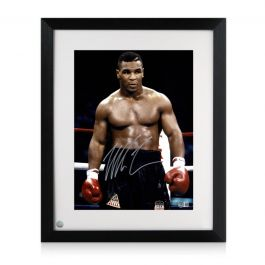 Mike Tyson Signed Boxing Photo: Baddest Man On The Planet. Framed