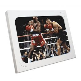 Mike Tyson Signed Boxing Photo: Tyson Vs Bruno. In Gift Box