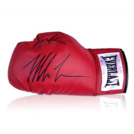Mike Tyson Signed Red Boxing Glove