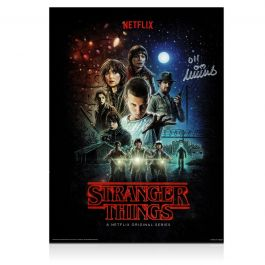 Millie Bobby Brown Signed Stranger Things Poster