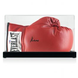 Muhammad Ali Signed Boxing Glove In Display Case (PSA DNA 4A53408)
