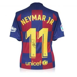 Neymar Jr Signed Barcelona 2019-20 Shirt