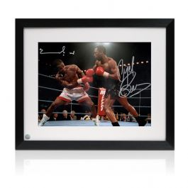 Framed Nigel Benn And Chris Eubank Dual Signed Boxing Photo
