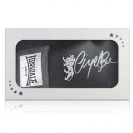 Nigel Benn Signed Black Boxing Glove In Gift Box