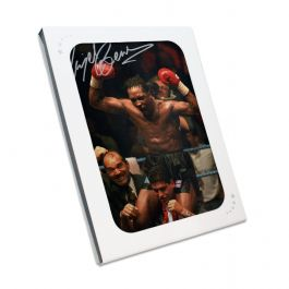 Nigel Benn Signed Boxing Photo: WBC Super Middleweight Champion In Gift Box
