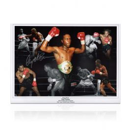 Nigel Benn Signed Boxing Photo: Dark Destroyer