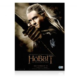 Orlando Bloom Signed The Hobbit Poster