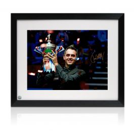 Ronnie O'Sullivan Signed Snooker Photo: Six-Time World Champion. Framed
